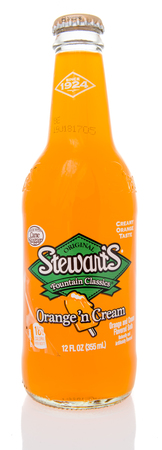 Winneconne, WI - 10 March 2019: A bottle of Stewarts fountain classics soda pop on an isolated background