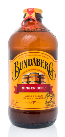 Winneconne, WI - 10 March 2019: A bottle of  Bundaberg ginger beer on an isolated background