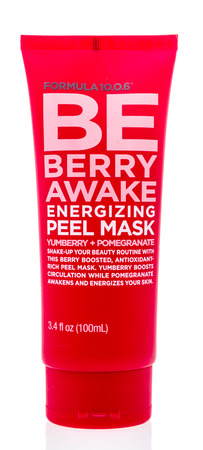 Winneconne, WI - 26 March 2019: A package of  Be berry awake energizing peel mask on an isolated background Editorial