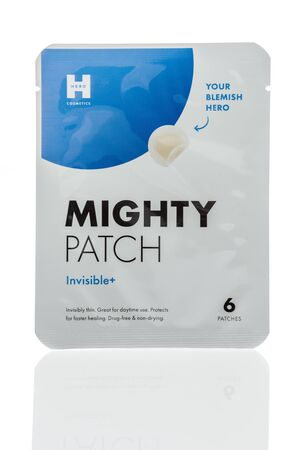 Winneconne, WI - 24 December 2019 : A package of Hero cosmetics mighty patch on an isolated background