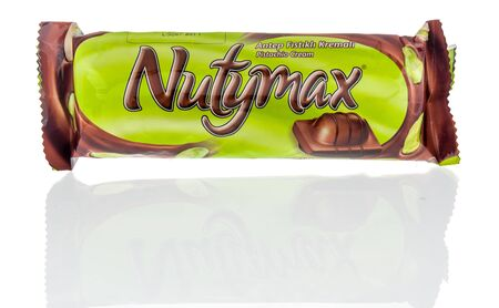 Winneconne, WI - 14 January 2019 : A package of Solen nutymaz candy bar snack on an isolated background
