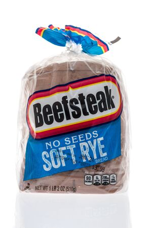 Winneconne, WI - 19 January 2019 : A package of Beefsteak soft rye loaf of bread on an isolated background
