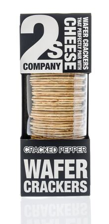 Winneconne, WI - 19 January 2019 : A package of 2s company wafer crackers on an isolated background