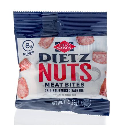 Winneconne, WI - 1 February 2020 : A package of Dietz and Watson dietz nuts meat bites on an isolated background