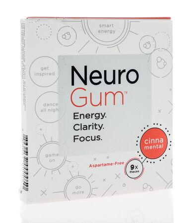 Winneconne, WI - 1 February 2020 : A package of Neuro gum on an isolated background 版權商用圖片 - 139770294