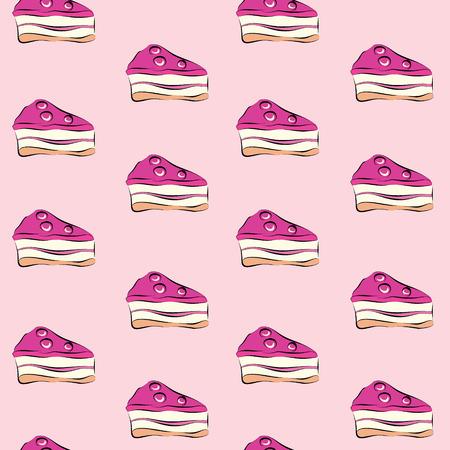 sugary: sweet cake seamless pattern