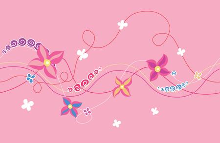 horizontal: Floral horizontal seamless ornament Illustration