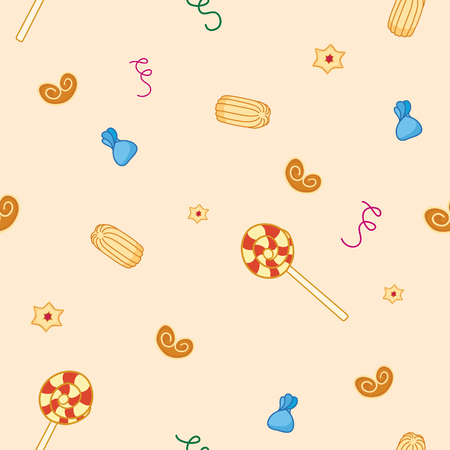 gingerbread cake: cookies seamless pattern