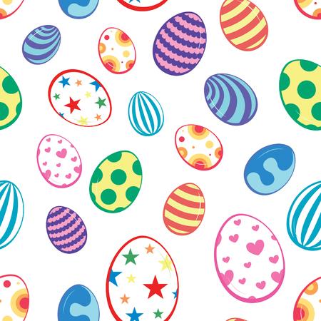 seamless pattern Easter eggs