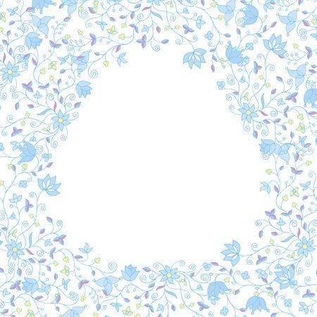 light pink: floral frame soft colors Illustration