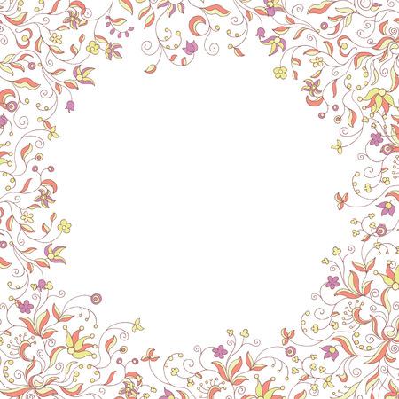 soft colors: floral frame soft colors Illustration