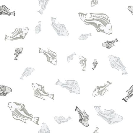 gray pattern: seamless pattern gray fish