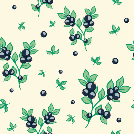 currant: Seamless pattern with black currant