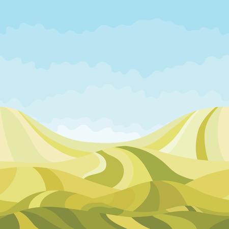 never ending: Seamless horizontal landscape nature background