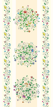 reg: Seamless floral wallpaper with borders