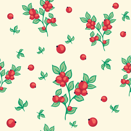 red currant: Seamless pattern with red currant berries