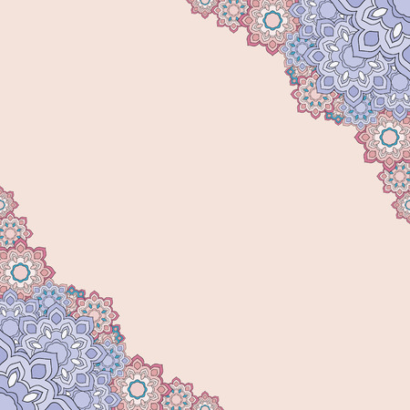 angular: angular geometric floral frame