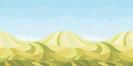 Seamless horizontal landscape nature background