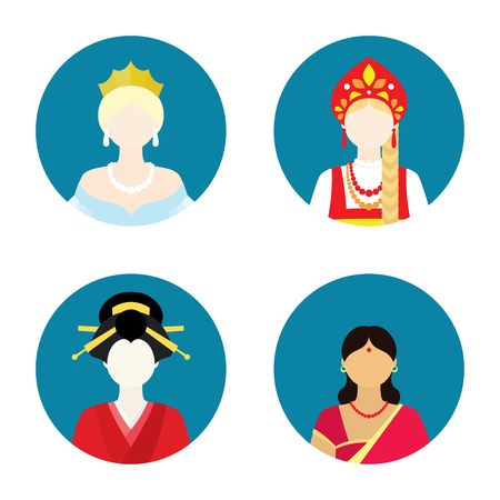 flat women historical set