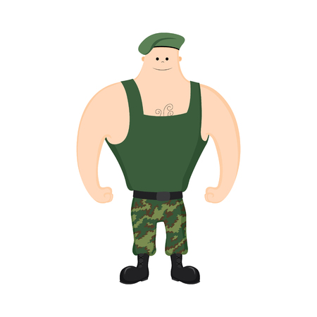 soldiers in shirt on white background Illustration