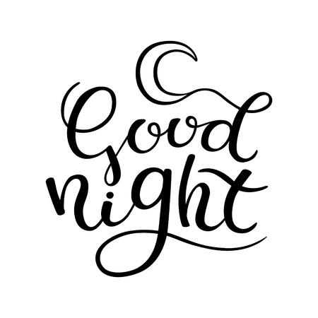 nap: Hand lettering goodnight Illustration