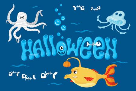 Illustration of halloween monster.