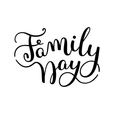 clan: Family Day hand lettering. Template for card, poster, print.