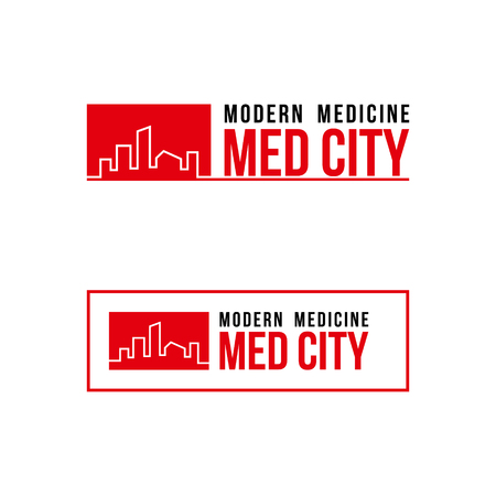 Icon medicine city template design vector illustration.