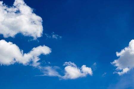 blue sky and clouds, soft focus Stock Photo