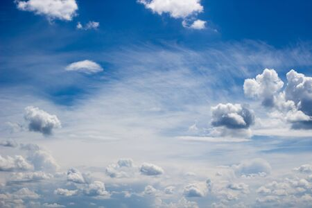 blue sky and clouds, soft focus