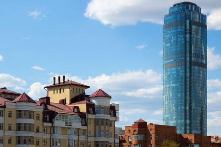 Ekaterinburg. View Vysotsky Stock Photo