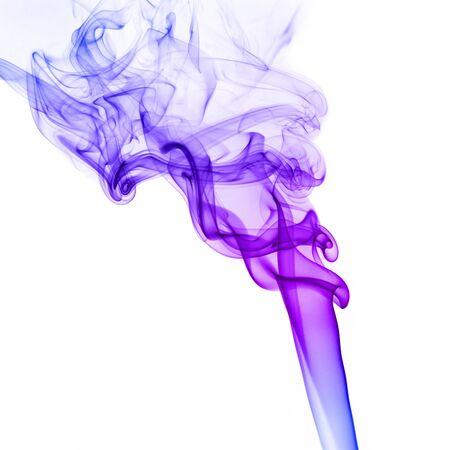 colorful smoke isolated on white background