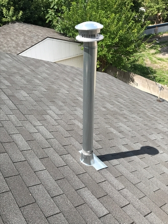 Exhaust Vent Category Stainless Steel Stockfoto