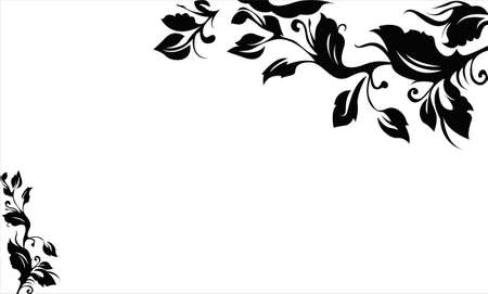 border silhouette: Beautiful vine