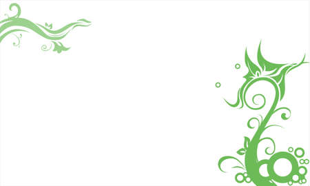 Green enchanting vine Stock Photo