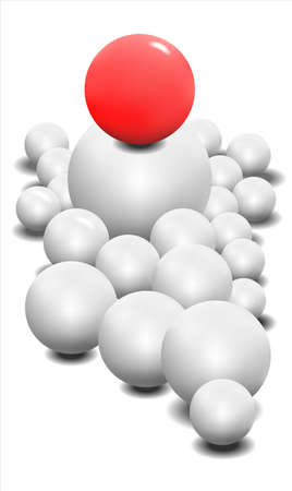 Red and white three-dimensional ball 2