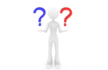 Question mark with the people Stock Photo