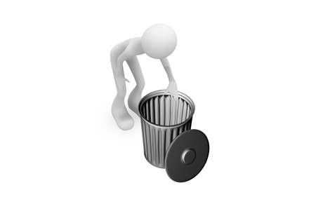 Trash and human Stock Photo