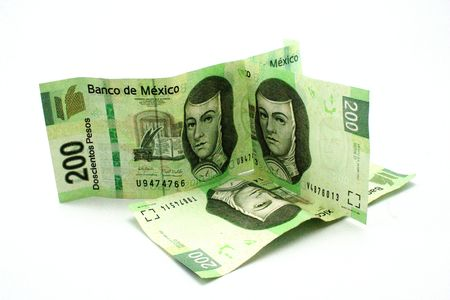 pesos: mexican 200 pesos bills