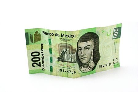 pesos: mexican 200 pesos bill