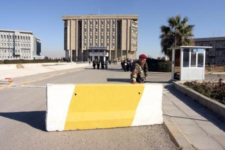 regional: Edificio del Parlamento Regional del Kurdist�n en Erbil, Kurdist�n, norte de Irak Editorial