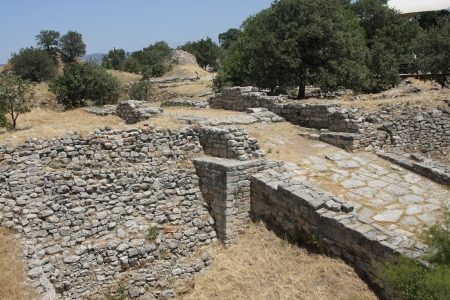 Ruins of ancient troy city, Canakkale  Dardanelles     Stock Photo