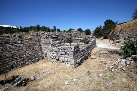 troy: Ruins of ancient troy city, Canakkale  Dardanelles     Stock Photo