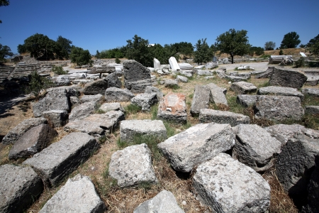 helen: Ruins of ancient troy city, Canakkale  Dardanelles    Turkey Stock Photo