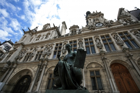 ville: Hotel De Ville in Paris Editorial