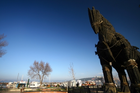 trojan horse: Cavallo di Troia a Canakkale, Turchia