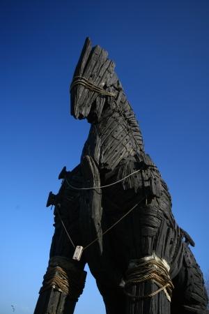 trojan horse: Cavallo di Troia a Canakkale citt�, Turchia Archivio Fotografico