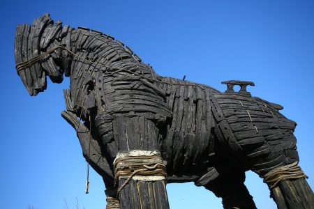 troya: Trojan Horse in Canakkale Square,Turkey