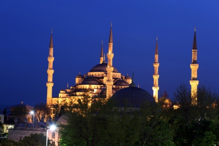 Blue Mosque on night in Istanbul  Stock Photo - 16768987