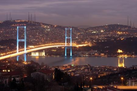 bosporus: Bosphorus Bridge in Istanbul,Turkey  Editorial